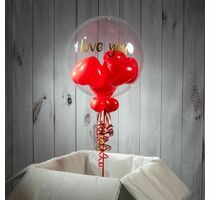 Personalised Heart Balloon-Filled Bubble Balloon