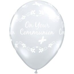 Pack of 6 Holy Communion Helium Quality Balloons