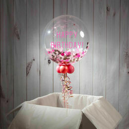 Happy Birthday Personalised Confetti Bubble Balloon