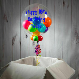 10th Birthday Personalised Multi Fill Bubble Balloon
