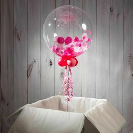 90th Birthday Personalised Confetti Bubble Balloon