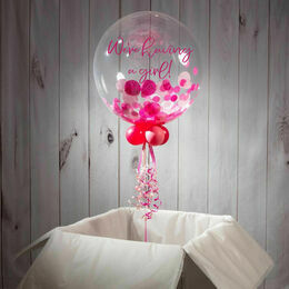 Gender Reveal Personalised Confetti Bubble Balloon