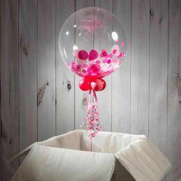 Newborn Baby Personalised Confetti Bubble Balloon