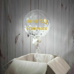 Holy Communion Personalised Confetti Bubble Balloon