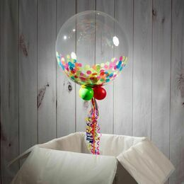 Thank You Personalised Confetti Bubble Balloon