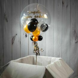 Personalised 'Congratulations' Multi Fill Bubble Balloon
