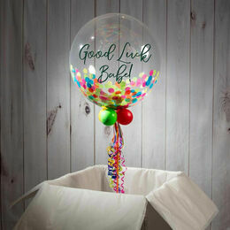 Good Luck Personalised Confetti Bubble Balloon