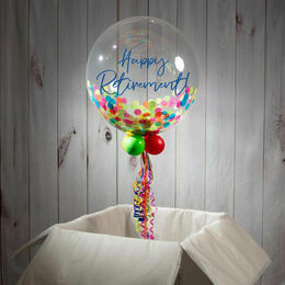 Happy Retirement Personalised Confetti Bubble Balloon