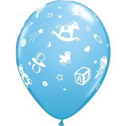 Pack of 6 Baby's Nursery Assorted Pastels Balloons