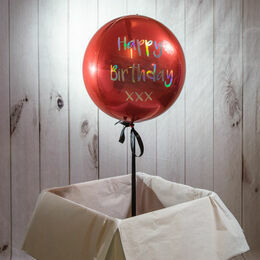 Personalised Red Orb Balloon