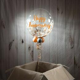 Personalised Natural Blush Confetti Bubble Balloon