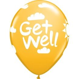 Pack of 6 Get Well Soon Assorted Helium Quality Balloons