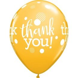 Pack of 6 Thank You Assorted Helium Quality Balloons