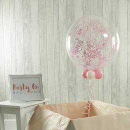 Tiny Hearts Confetti Personalised Valentine's Day Bubble Balloon
