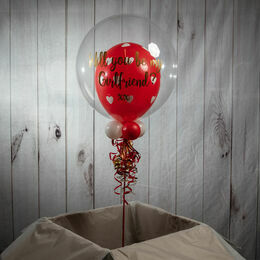 Personalised Valentine\'s Day Heart Print Bubble Balloon