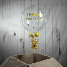 Personalised Vinyl Daisies Mother's Day Bubble Balloon
