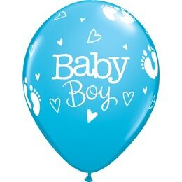 Pack of 6 Baby Boy Helium Quality Balloons