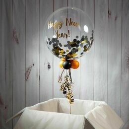 Personalised New Year's Eve Confetti Bubble Balloon