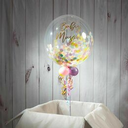 Personalised Pastel Confetti Bubble Balloon