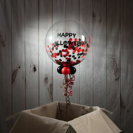 Personalised Halloween Confetti Bubble Balloon