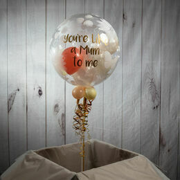 Personalised Flowers & Butterflies Print Balloon-Filled Bubble Balloon