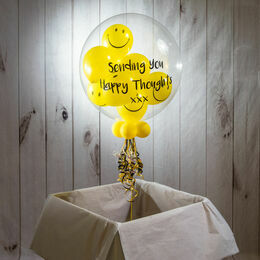 Personalised \'Sending You Smiles\' Smiley Faces Bubble Balloon