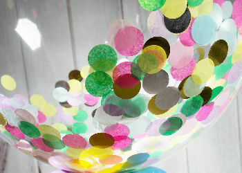 Confetti Filled Bubble Balloons