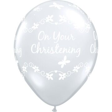 Pack of 6 Christening Butterflies Helium Quality Balloons