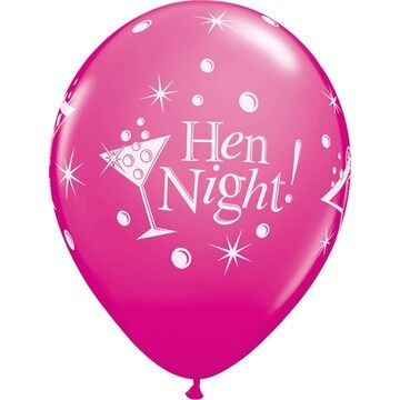 Pack of 6 Hen Night Bubbly Helium Quality Balloons