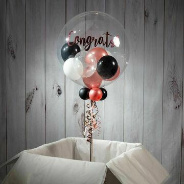 50th Birthday Personalised Multi Fill Bubble Balloon
