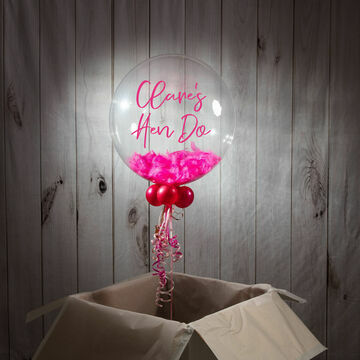 Hen Party Personalised Feather Bubble Balloon