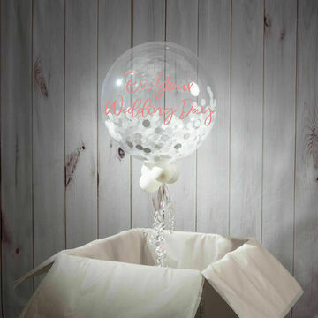 Wedding Day Personalised Confetti Bubble Balloon