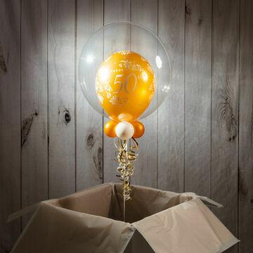 Happy Anniversary Personalised Bubble Balloon