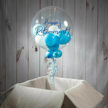 Happy Retirement Personalised Multi Fill Bubble Balloon