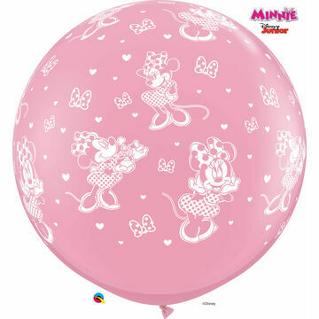 3ft Giant Assorted Pink Minnie Mouse Helium Quality Balloon