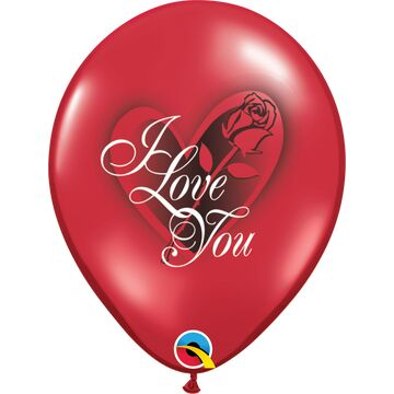 Pack of 6 I Love You Red Helium Quality Balloons