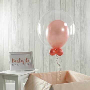 Personalised Rose Gold Bubble Balloon