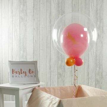 Personalised Unicorn Print Bubble Balloon
