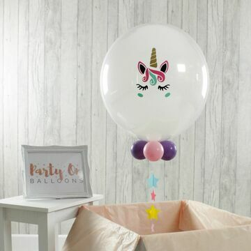 Personalised Unicorn Face Bubble Balloon