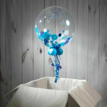 Personalised Blue Confetti Father's Day Bubble Balloon