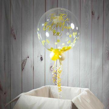 Personalised Summer Daisy Confetti Bubble Balloon