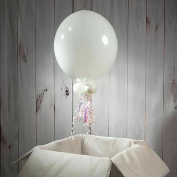 Solid White Personalised Bubble Balloon