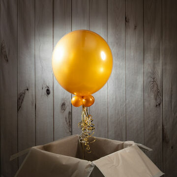 Solid Gold Personalised Bubble Balloon