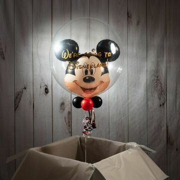 \'We\'re Going To Disneyland\' Reveal Mickey Mouse Bubble Balloon