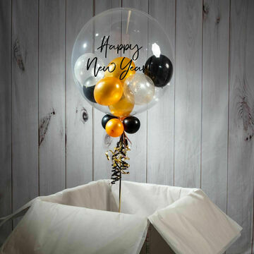 Personalised New Year\'s Eve Balloon-Filled Bubble Balloon
