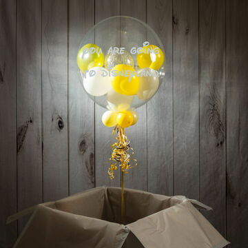 'We're Going To Disneyland' Reveal Belle Bubble Balloon