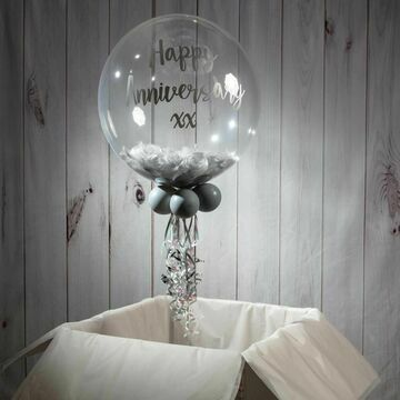 Personalised 25th / Silver Wedding Anniversary Bubble Balloon