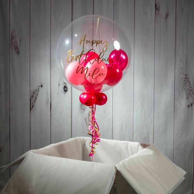 Personalised 'Umrah Mubarak' Multi Fill Bubble Balloon from £29 99