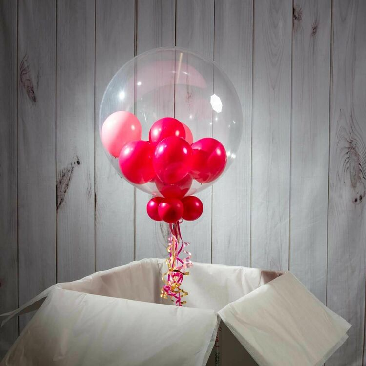 50th Birthday Personalised Multi Fill Bubble Balloon Additional 5