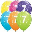 Pack of 6 7th Birthday Assorted Colour Helium Quality Balloons additional 1